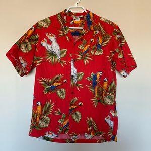Vintage Hawaiian Shirt Pacific Legend Parrot Macaw